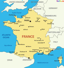 FranceMapwithCities